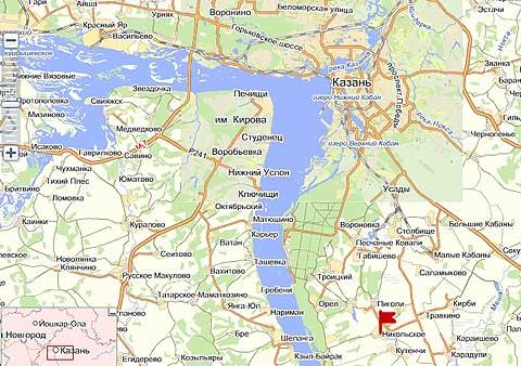 Русское Никольское в 30 км от Казани в направлении Оренбурга