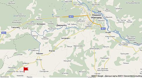 Посёлок вача Нижегородской области в 100 км от Н.Новгорода