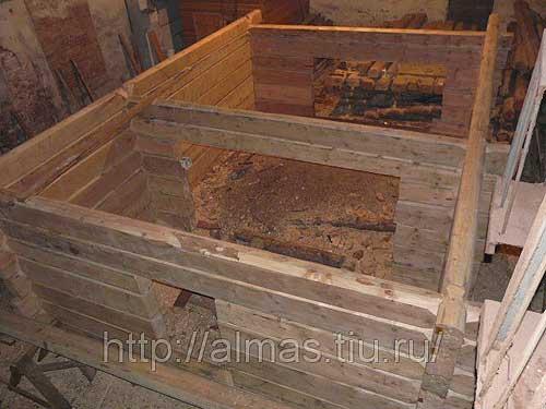 Сруб дома из алтайского кедра по норвежской технологии