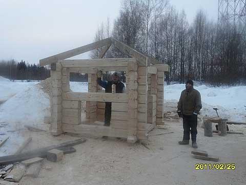 Рубленая по норвежской технологии беседка выпускника февральской 2011 группы Игоря Пичугина, фото 1 InterTaiga.Ru