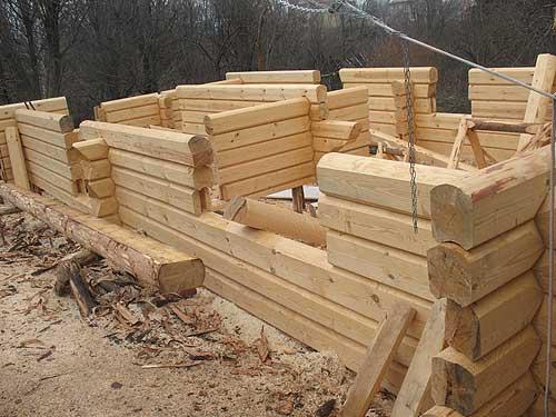 Строительство дома нижегородской сосны в Норвежскую чашку на 115 кв.м в г. Чебоксары